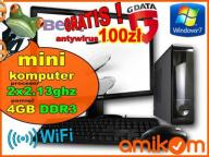 MINI KOMPUTER 2x2,13GH DDR3 4G WINDOWS 7 MONITOR