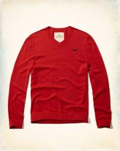 Sweter V-neck HOLLISTER Nowa M L