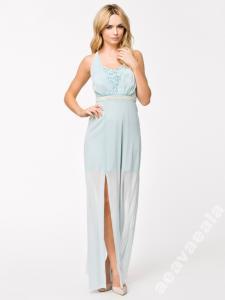 7c96ee6a Elise Ryan Długa sukienka maxi S 36 błękitna ASOS - 5198971671 ...
