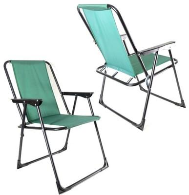 Krzesło Ogrodowe Tarasowe Składane Zielone Hunter