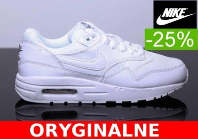 Damskie Nike Air Max 1 807602 100 białe