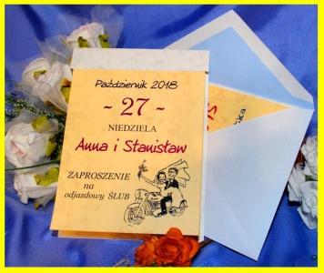 Zaproszenia ślubne Kartka Z Kalendarza Z Humorem 5145485460