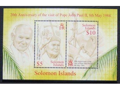 WYSPY SALOMONA** Jan Paweł II 20 rocz. pielgrzym