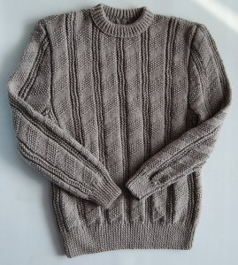 Sweter męski ręcznie robiony XL