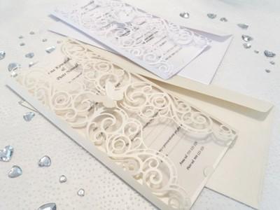 Ekskluzywne Zaproszenia ślubne Ażurowe Na ślub 6982915666
