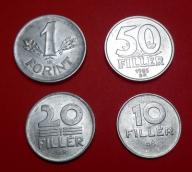 WĘGRY 1978 do 1988 , 1 FORINT , 50,20,10, FILLER