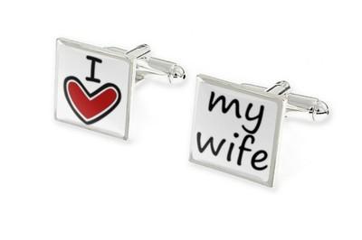 SPINKI DO MANKIETÓW ŚLUBNE I LOVE MY WIFE ar1235
