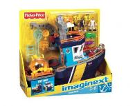 Fisher Price Imaginext statek łódź oceaniczna 24H