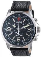 Swiss Military Men's Quartz Watch with Black Dial