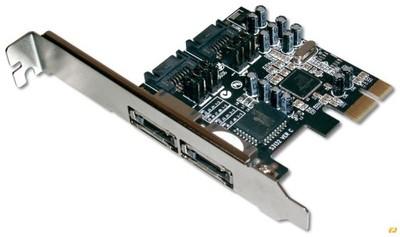 Kontroler PCI-Express wenw: 2xSATA II, zewn:,