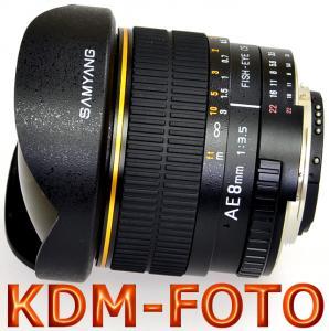 Samyang AE 8 mm f/3.5 Aspherical IF MC Fish-eye