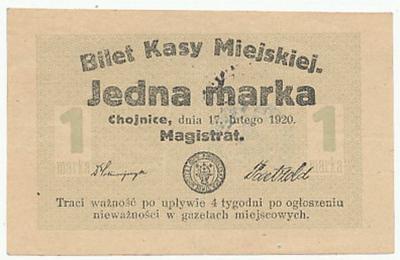 163. Chojnice 1 mk 1920, st.2- piękny