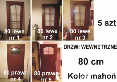 Drzwi Wewnętrzne Lewe Prawe Mahoń Pokój łazienka