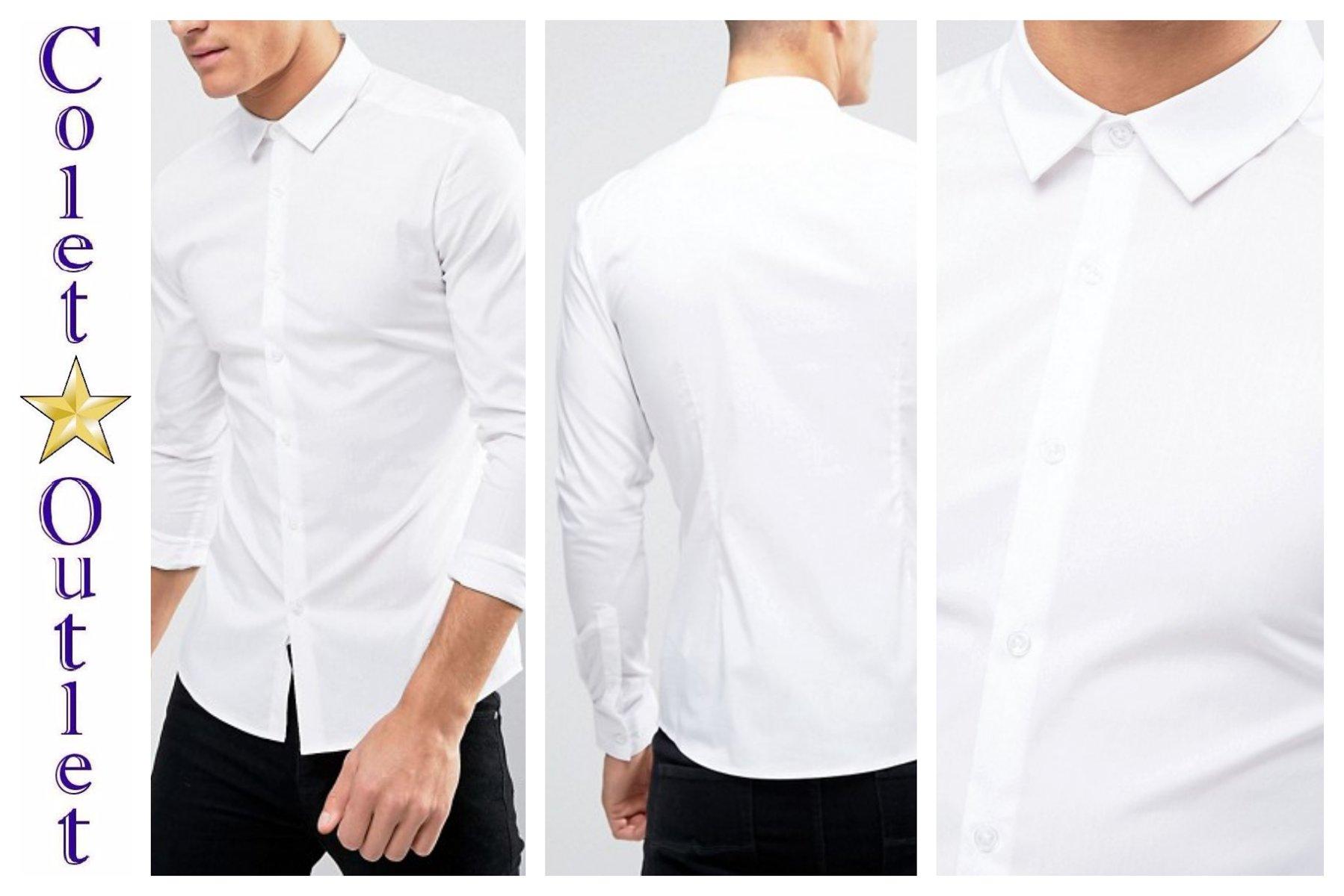 mp44 koszula biała elegancka super skinny M