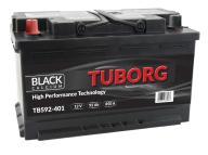 AKUMULATOR TUBORG BLACK CALCIUM 92AH 850A L+