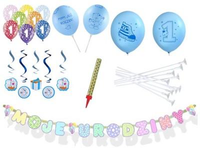 Zestaw Na Roczek Pierwsze Urodziny Dekoracje 6701310611