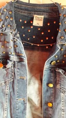 Kurtka jeansowa Zara S z ćwiekami