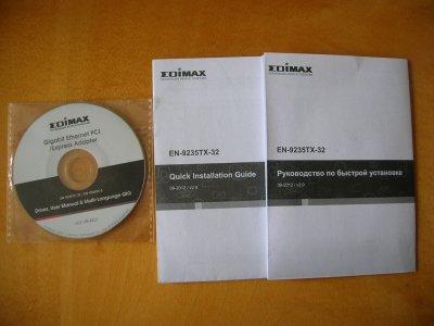 Instrukcja +sterow. karty siec EDIMAX EN-9235TX-32