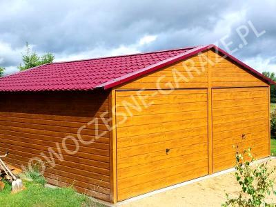 Garaż Blaszany Drewnopodobny Złoty Dąb 6x5 Gd 5969209264