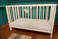 Łóżeczko dziecięce białe GULLIVER IKEA + materac