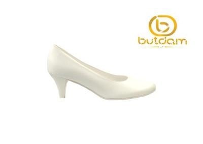 072cbced Buty ślubne wygodne niskie białe-BUTDAM r.37 - 6803643543 ...