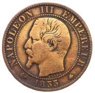 Francja - moneta - 5 Centymów 1855 BB - 2