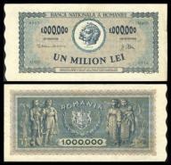 Rumunia 1000000 lei 1947r. P-60 XF- ( 2- )