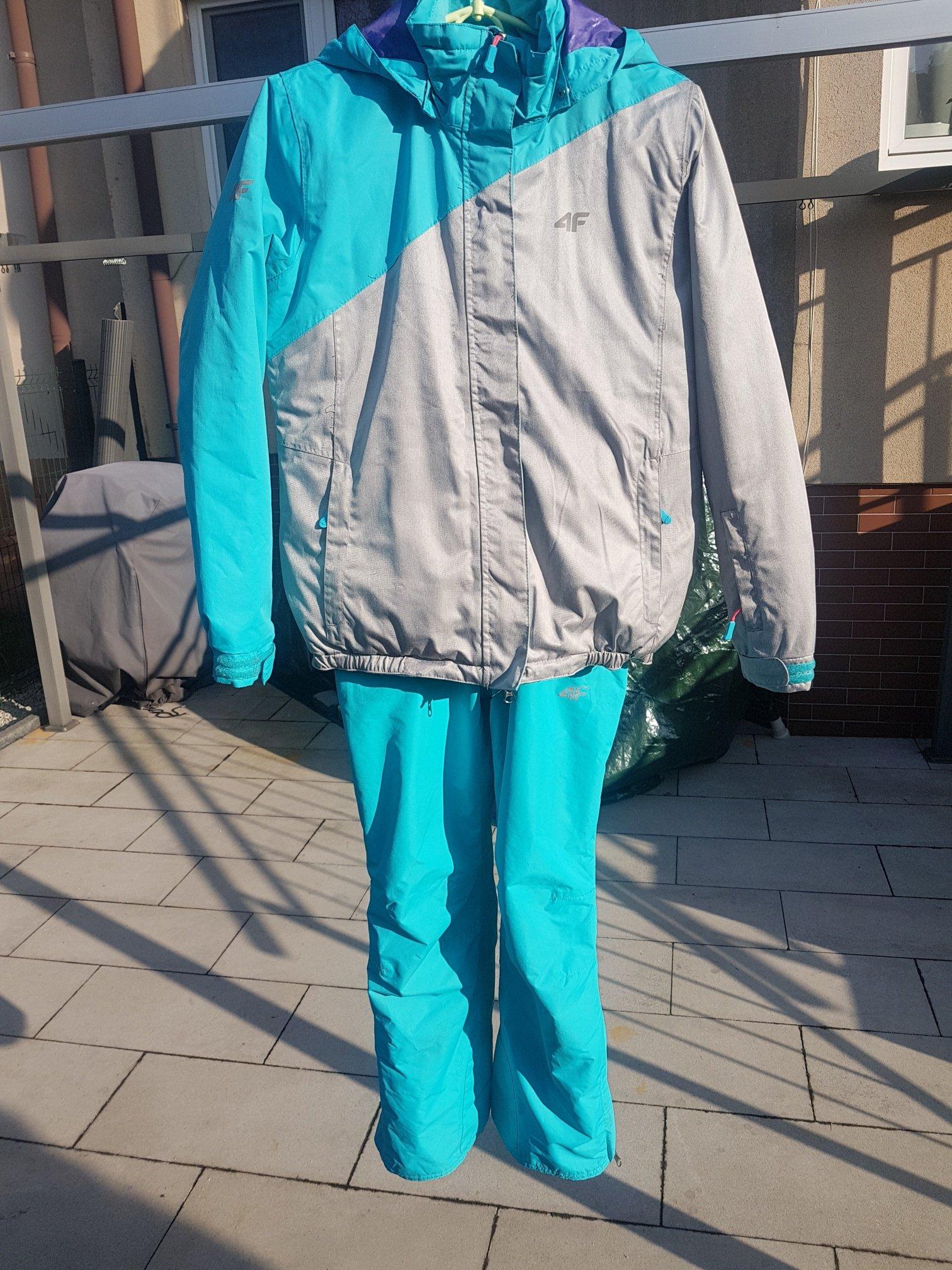 33efafd9986fa Kurtka narciarska+spodnie dla dziewczyn 4F 146-152 - 7045643498 ...