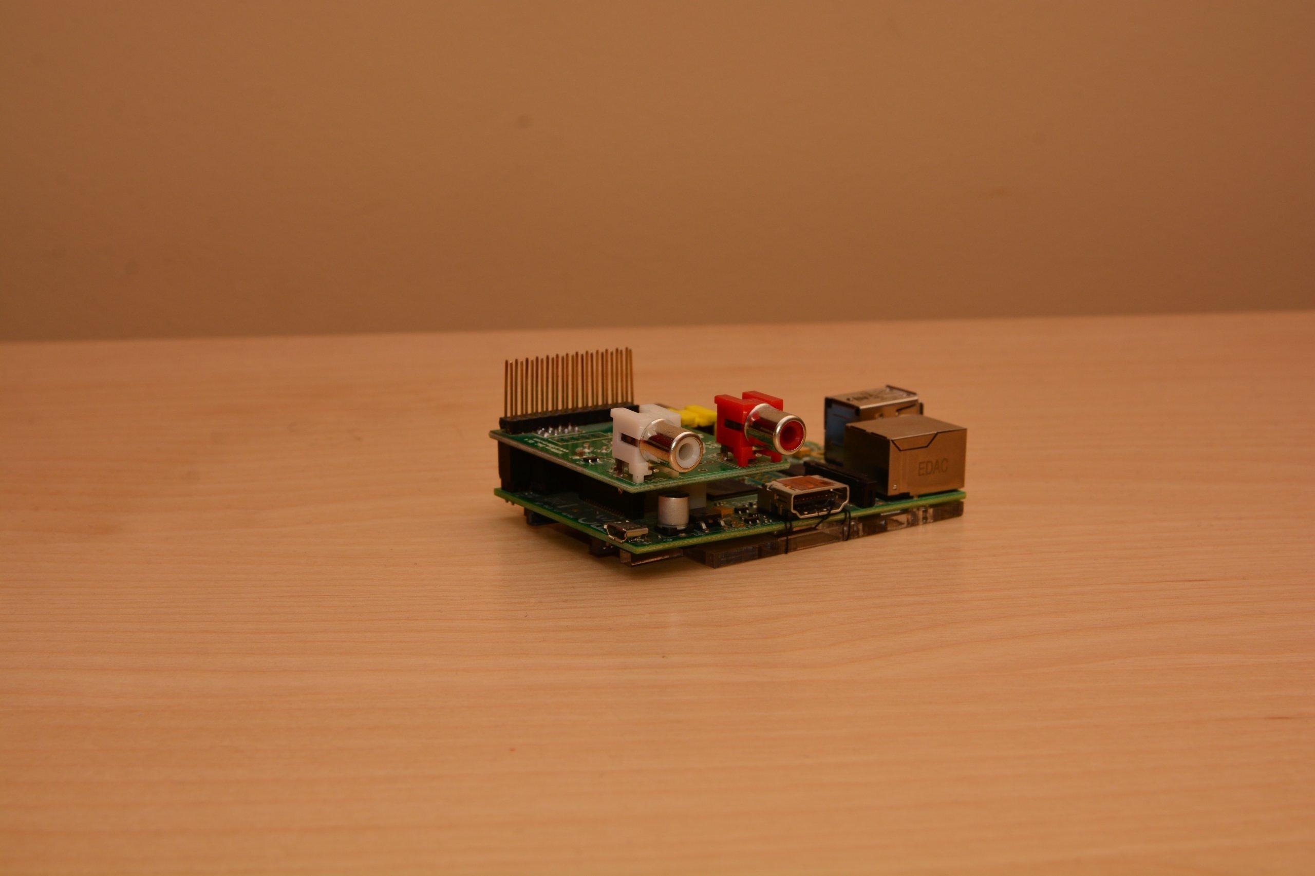 HifiBerry DAC + Raspberry Pi Model B 512MB RAM