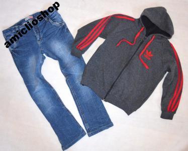6614971433825d NAME IT spodnie jeansy przecierane rurki 140 146 - 5430319938 ...