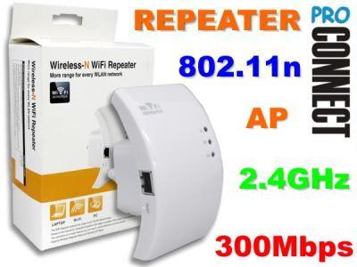 WZMACNIACZ REPEATER AP WiFi WLAN 300Mbps 2.4GHz