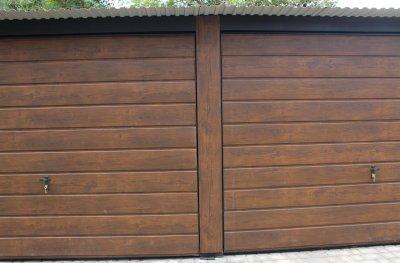 Garaż Blaszany 7x6 Orzech Złoty Dąb Drewnopodobny 6555617589