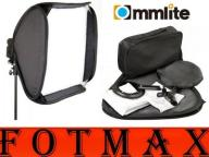 COMMLITE Softbox 80x80 uchwyt lampy reporterskie