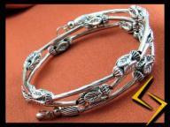 BRANSOLETA srebro tybetańskie  [B167] JeraNet-J01