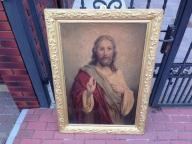 **** DUŻY *** OLEODRUK *** JEZUS ******