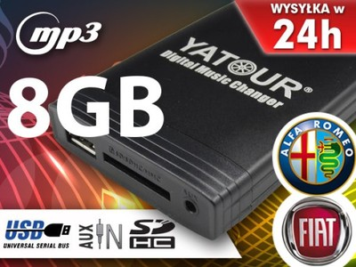 ZMIENIARKA MP3 SD USB LANCIA YPSILON MUSA +8GB NEW