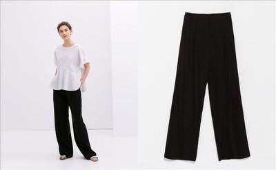 szerokie spodnie zara