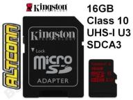 KINGSTON KARTA MICRO SDHC 16GB CLASS 10 UHS-I U3