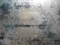 srebrna papierośnica z dedykacją