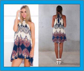 Sukienka Plazowa Tunika Pareo Boho Tu Xs Tw 6077583449 Oficjalne Archiwum Allegro