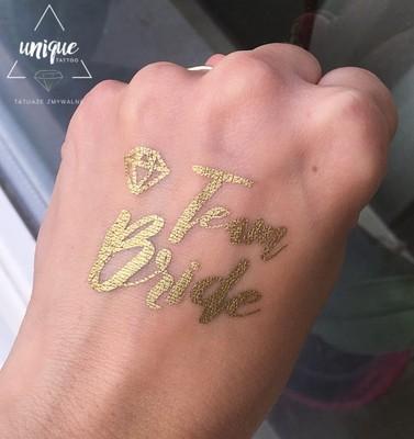 Złoty Tatuaż Na Wieczór Panieński Team Bride Młoda