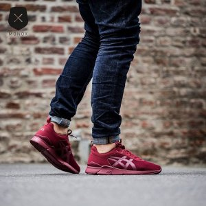 asics gel lyte bordowe