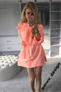 f009977b8e Zjawiskowa letnia sukienka neonowa hiszpanka M - 6251788241 ...