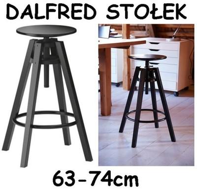 IKEA DALFRED Stołek barowy krzesło czarny hoker