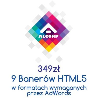 Banery Adwords Animowane Html5 9 Formatów 6873164934