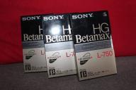 Kasety VIDEO SONY HG BETAMAX L-750 NOWE