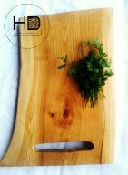Deska kuchenna do krojenia dąb ręcznie wykonana