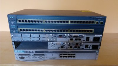 CISCO LAB CCNA CCENT 2x Switch 2950 2x Router 2600 - 6329107211