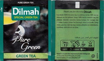 Dilmah Pure Green ( Zielona ) 100 szt. GASTRONOMIA