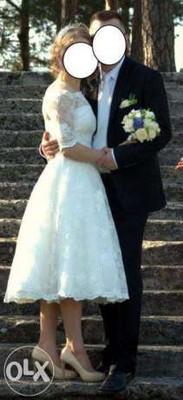 ac78751efd Krótka suknia ślubna